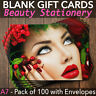 More images of Christmas Gift Vouchers Blank Beauty Salon Card Massage Nail x100 A7 + Envelopes