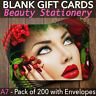 More images of Christmas Gift Vouchers Blank Beauty Salon Card Massage Nail x200 A7 + Envelopes