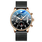 Men's Military Stainless Steel Mesh Band Chronograph Analog Date Quartz Watches