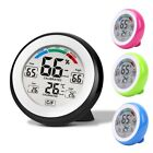 Digital Thermometer Hygrometer LCD Touch Key Temperature Gauge Humidity Meter