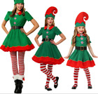 Kids Adult Christmas Family Fancy Dress Costume Xmas Cosplay Perform Costumes UK