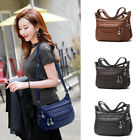 Women's Soft Leather Casual Purse Shoulder Handbags Satchel Bags Cross Body Bags image
