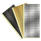 Custom Golf Club Shaft Sticker Labels with Your Name, Address & Phone Gold Black