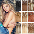 """15"""" 18"""" 20"""" 70g Full Head Clip In 100% Remy Human Hair Extensions Hair Weft New"""