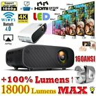 18000 lumens 1080p 3d led 4k mini wifi video home theater projector cinema hdmi