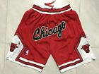 Stitched Chicago Bulls NBA Basketball Shorts Men's Pants Retro on eBay