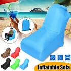 Inflatable Fold Sofa Air Lounger Couch Camping Beach Bed Lazy Chair Sleeping Bag