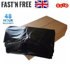 Black Heavy Duty Strong 130g Thick Rubbish Bags Bin Liners - Refuse Sack Scrap