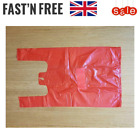 Red Plastic Vest Carrier Bags in XL & S - Supermarkets Shops Stalls Takeaway