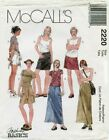 Mccalls 2220 Misses Cargo Skirts & Shorts Sewing Pattern Uncut