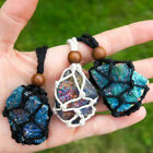 Excluding Stone -tribal Interchangeable Macrame Pouch Gemstone Bag Necklace Rope