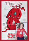 Avon Childrens Girls Red Christmas Tree Jumper, Sequined Reversible Tree 3-4 yrs
