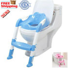 🔥Kids Potty Training Seat with Step Stool Ladder for Child Toddler Toilet Chair image