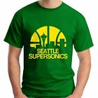 NEW SEATTLE SUPERSONICS BASKETBALL CLUB MEN'S GREEN T-SHIRT SIZE S-3XL USA SIZE on eBay