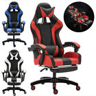 Racing Video Gaming Chair Recliner Computer Desk PU Leather Seat w/Footrest US