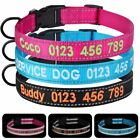 Embroidered Personalized Dog Collar Reflective Adjustable Nylon Pet Puppy Name