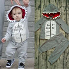 Toddler Kids Baby Boy Winter Clothes Hoodie T-shirt Tops Pants Outfits Tracksuit