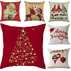 Christmas Pillow Case Santa Cotton Linen Sofa Car Throw Cushion Cover Home Decor