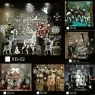 Santa Snowflakes Christmas Window Sticker Winter Xmas Wall Decal Stickers Decor