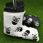 Golf Head Covers Set Putter Leather Golf Club Headcovers Skull Velco Blade Mens