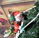 X'mas Climbing Santa Claus With Rope Ladder Outdoor Christmas Tree Decoration