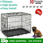 Small Medium Large XL  Pet Dog Cage Crate Foldable Carry Transport Carrier Firm