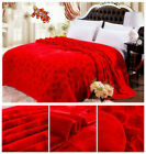 Thick  flannel blanket sheet super soft and warm full Queen SIZE  80X90 multi c  image