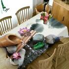 3d Lotus Flower Tablecloth Rectangle Table Cover Table Runner Home Table Decor
