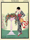 Vogue Cover Fashion Lady Rose Flower Hot Weather Vintage Poster Repro FREE S/H
