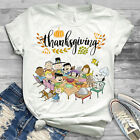 Snoopy and Peanuts with friends Thanksgiving T Shirt Cotton