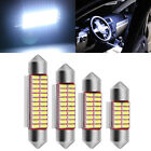 Festoon White 31/36/39/41mm 12SMD COB LED Bulbs For Car Interior Dome Map Lights