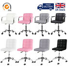 'Comfy Office Desk Computer Chair Padded Seat Swivel Lift Chair Pu Leather Chair