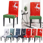 Christmas Decoration Chair Covers Dining Seat Santa Claus Slipcover Party Decor