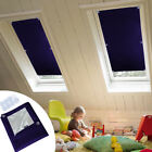 Blackout Blind Curtains Suction Cup Thermal for Velux Roof Anti-UV Window Navy