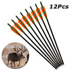 "12pcs 16-22"" Carbon Crossbow Bolts Archery Arrows Bow Hunting Free Shipping"