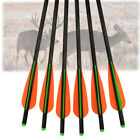 """16/18/20/22"""" Archery Crossbow Carbon Arrows Bolts Target Tips Hunting Shooting"""