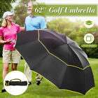 Large Golf Umbrella Double Layer Windproof Anti-UV Umbrella  Folding Sunshade UK