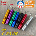 7pack Aluminum Keychain SOS Emergency Survival Loud Whistle Camping Hiking Tools