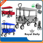 Collapsible Portable Camping Wagon Trolley Folding Wheel Festival Pull Cart Hand