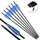 "6P* 16-22"" Archery Crossbow Carbon Arrows Bolts Target Tips Hunting Shooting"