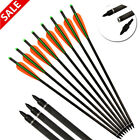 """12pcs 16-22"""" Carbon Crossbow Bolts Archery Arrows Target Hunting Free Delivery"""