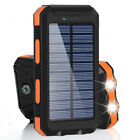 1000000mah External Power Bank Backup Solar Charger Charger For Cell Phone Blue