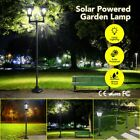 Deluxe LED Outdoor Solar Powered Lamp Post Light Garden Security Yard Lawn Light