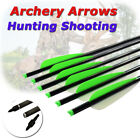 6Pcs 16/18/20/22 Inch Crossbow Bolts Target Tips Hunting Shooting Moon Nocks
