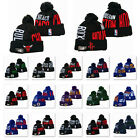 Embroidered Basketball Teams Beanie Hat Winter Warm Knit Ski Cap for Men Women
