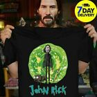 Awesome John Rick John Wick Rick And Morty Crossover T-Shirt full size