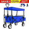 More images of Folding Hand Cart Garden Wagon Trolley Pull-Along Festival Camping Picnic Cart