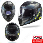 CASCO INTEGRALE FULL FACE DOPPIA VISIERA LS2 BREAKER FF390 BETA MATT COBALT H-V