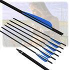 16-22 inch Crossbow Carbon Target Tips Bolts 4'' Vanes Bow Arrows for Hunting US
