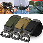Men Military Belt Buckle Adjustable Combat Waistband Tactical Rescue Rigger-Tool